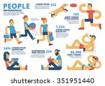 people infographics | Shutterstock .eps vector #351951440