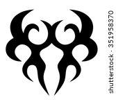 vector tribal tattoo designs.... | Shutterstock .eps vector #351958370