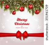 christmas background realistic... | Shutterstock .eps vector #351961709