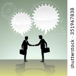 calculated business deal ... | Shutterstock .eps vector #351967838