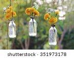 yellow plastic flowers... | Shutterstock . vector #351973178