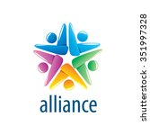 abstract vector logo union of... | Shutterstock .eps vector #351997328