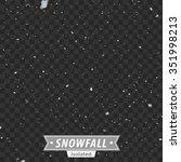 isolated snowfall   eps10 vector | Shutterstock .eps vector #351998213