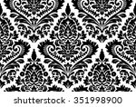 vector seamless damask pattern. ... | Shutterstock .eps vector #351998900