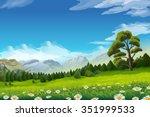 spring landscape  vector... | Shutterstock .eps vector #351999533