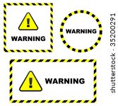 warning vector element. vector... | Shutterstock .eps vector #35200291