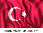 ottoman empire variant flag.... | Shutterstock .eps vector #352003574