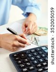 accounting concept.analyzing... | Shutterstock . vector #352005059