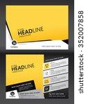 brochure template design.... | Shutterstock .eps vector #352007858