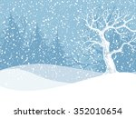 Winter Landscape With Fir Tree...