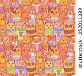 colorful seamless pattern with... | Shutterstock .eps vector #352011389