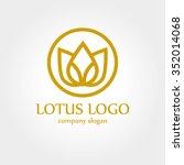lotus flower logo | Shutterstock .eps vector #352014068