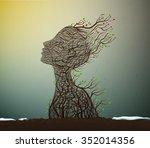 spring soul  tree branch looks...   Shutterstock .eps vector #352014356