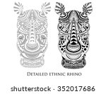 zentangle high detailed figure... | Shutterstock .eps vector #352017686
