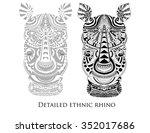 zentangle high detailed figure... | Shutterstock .eps vector #352017686