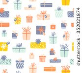 party presents seamless pattern ... | Shutterstock .eps vector #352021874