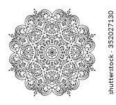 mandala. hand drawn doodle.... | Shutterstock .eps vector #352027130
