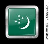 turkmenistan variant flag.... | Shutterstock .eps vector #352029314