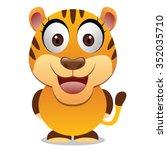 tiger cartoon vector | Shutterstock .eps vector #352035710