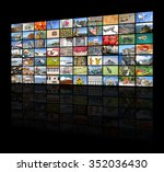a variety of images as a big... | Shutterstock . vector #352036430
