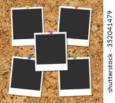 Vector Cork Board With Five...
