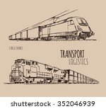 cargo trains | Shutterstock .eps vector #352046939