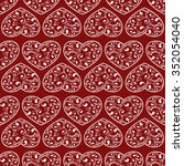 red hearts seamless on red...   Shutterstock .eps vector #352054040