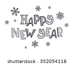happy new year postcard... | Shutterstock .eps vector #352054118