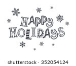 happy new year postcard... | Shutterstock .eps vector #352054124