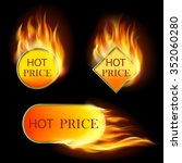 burning with fire design sale... | Shutterstock .eps vector #352060280