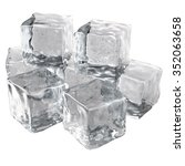 ice cubes isolated on white... | Shutterstock . vector #352063658