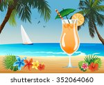 beach drink | Shutterstock . vector #352064060