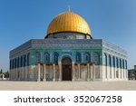 dome of the rock mosque on the... | Shutterstock . vector #352067258