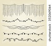 set of hand drawn string... | Shutterstock .eps vector #352069064