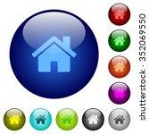 set of color home glass web...