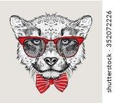 image portrait cheetah in the... | Shutterstock .eps vector #352072226