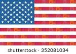 american flag. | Shutterstock .eps vector #352081034