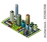 isometric city map. set of... | Shutterstock . vector #352081508