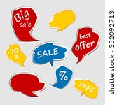 set of sale banners. sale tags. ... | Shutterstock .eps vector #352092713