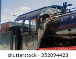 detail view of the train window ... | Shutterstock . vector #352094423