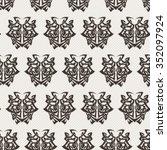 elegant difficult curled...   Shutterstock .eps vector #352097924