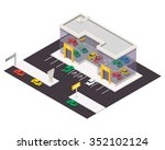vector isometric car store... | Shutterstock .eps vector #352102124