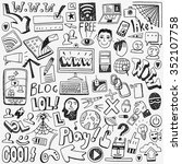 web doodles set | Shutterstock .eps vector #352107758