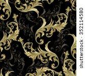 baroque scrolls vector pattern | Shutterstock .eps vector #352114580