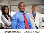 afro american business people... | Shutterstock . vector #352114760