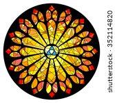 gothic rosette window pattern ... | Shutterstock .eps vector #352114820