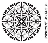 east ethnic round mandala....   Shutterstock .eps vector #352130810
