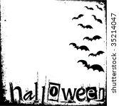 halloween grunge background | Shutterstock .eps vector #35214047