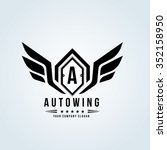 auto wing automotive logo... | Shutterstock .eps vector #352158950