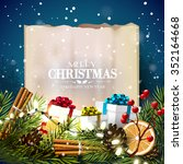 christmas greeting card with... | Shutterstock .eps vector #352164668
